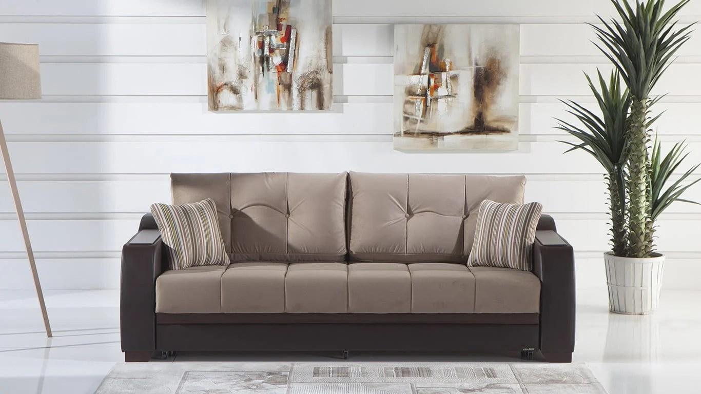 Ultra Lilyum Vizon Sofa Queen Sleeper By Istikbal Sunset