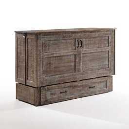 Poppy White Bark Queen Murphy Cabinet Bed