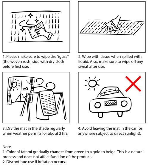 how to care tatami