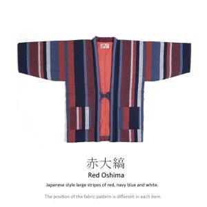 Japanese hanten jacket red