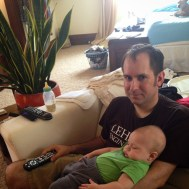 Eddie is far less interested in the World Cup than his dad.