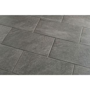 Grey floor tile.