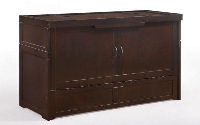 Cube Murphy Cabinet Bed – Queen – Dark Chocolate