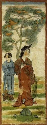 万葉美人の代表『樹下美人図』