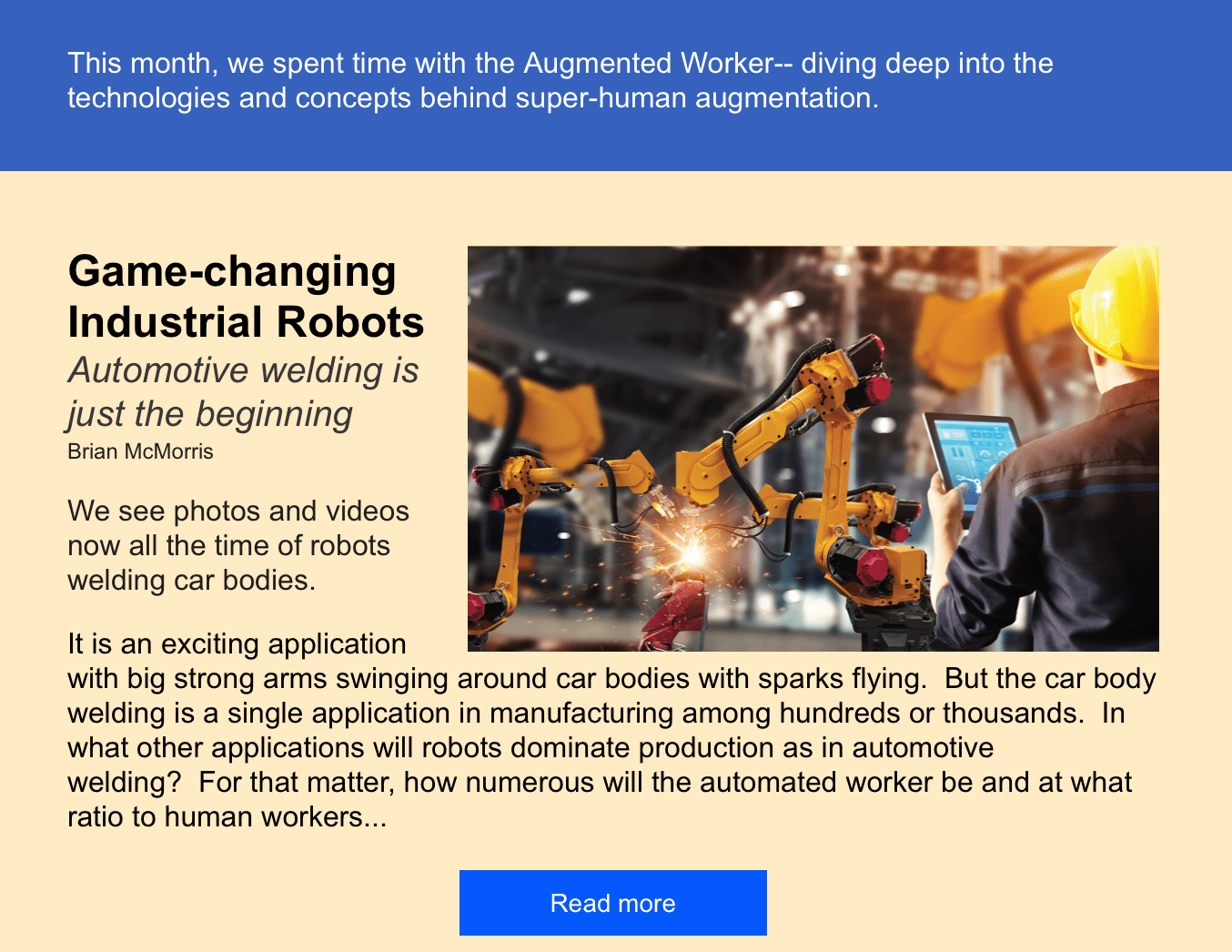 Automated Worker Robotics