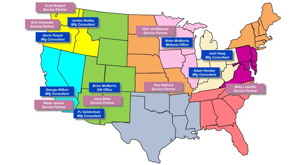 FA Sales Territory Map - Nov 2019