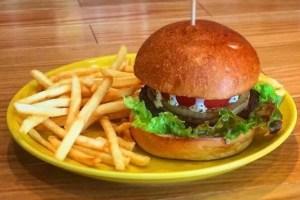 鹿肉 ハンバーガー