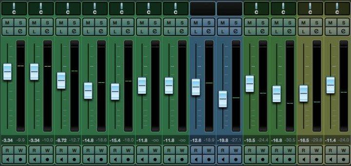 Mixagem inicial