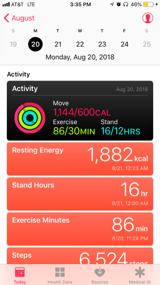 Apple Health App With Apple Watch