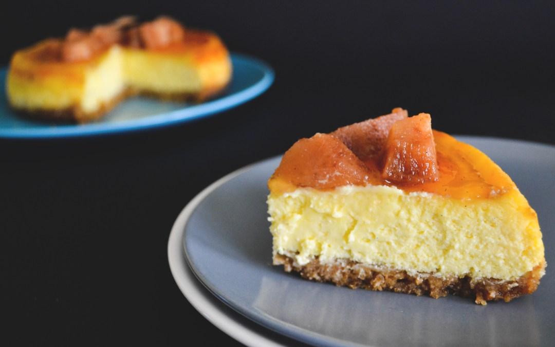 Vaníliás-birsalmás cheesecake