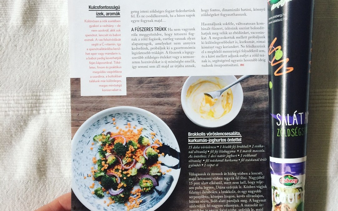 Futureater receptek a márciusi Marie Claire-ben