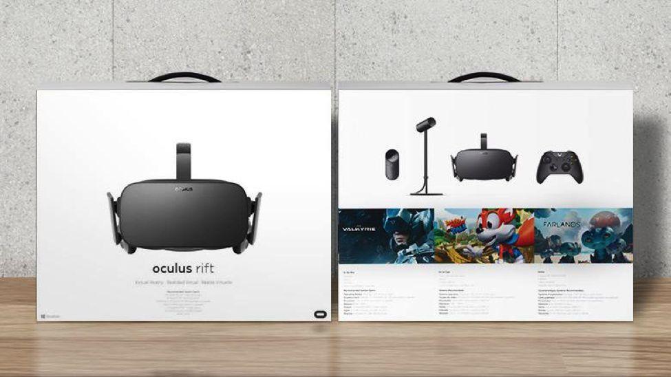 Oculus Rift pacote inicial