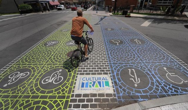 Indianapolis completed its cultural trail this week, source: Matt Kryger / The Star