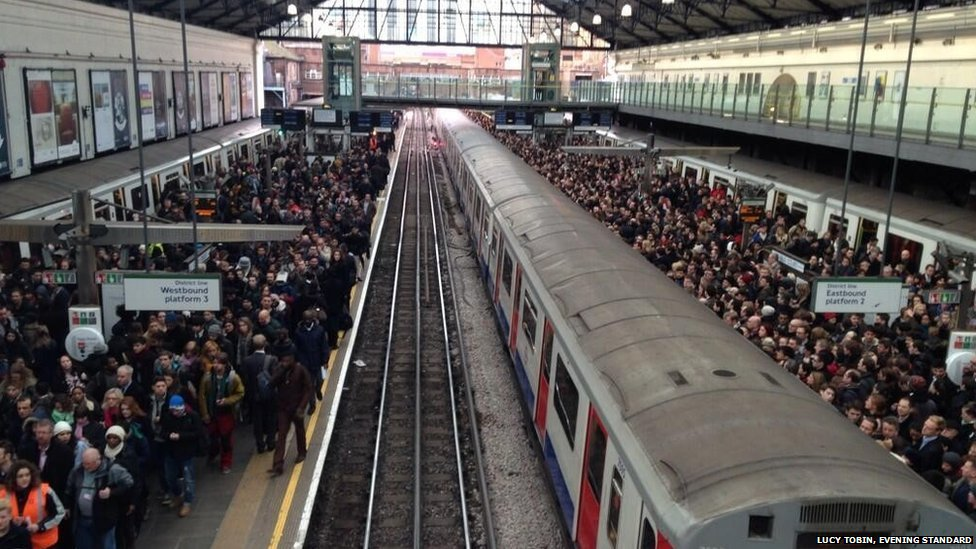 Thousands of Londoners were affected by the Tube strikes this past week. Source: Lucy Tobin/ Evening Standard