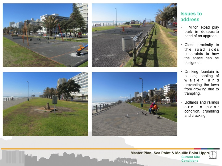 Evaluation of the improvements needed for the Milton Road Play Park (courtesy of Beverley Schafer)