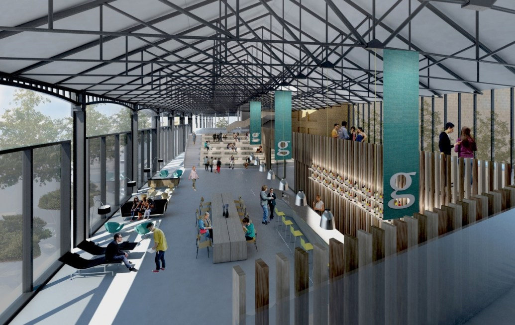 Concept design for Guardian Space at Midland Goods Shed. Photograph: Bennetts Associates