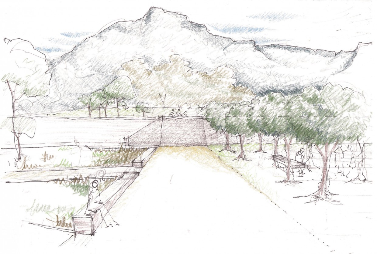 Render drawing envisioned by Square One Landscape Architects