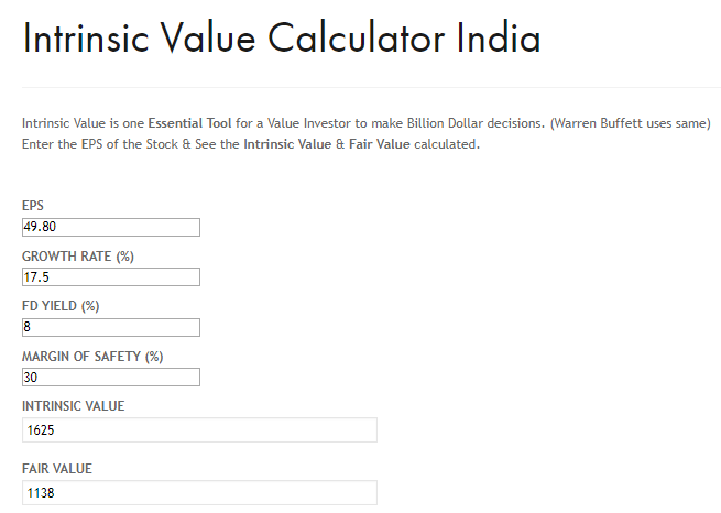 hdfc bank may 2020 intrinsic value calculation india