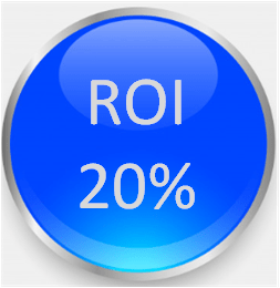 ROI 20% secret to riches (return on investment)
