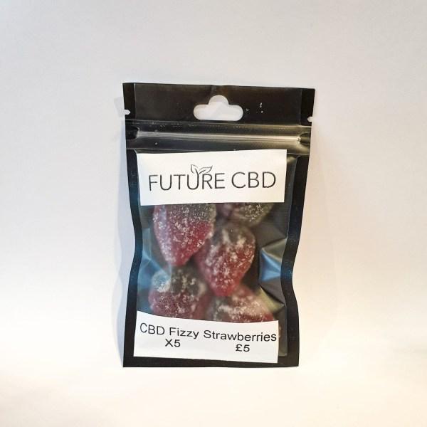 CBD Fizzy Strawberries Vegan (125mg)