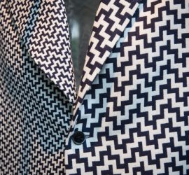 Close-up of lapel in New Heritage cloth