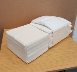 Prototype block designs for the Deluxe Beds modular mattress