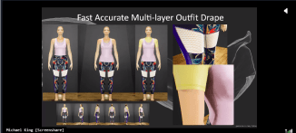 Screenshot of Numerion Software virtual garment draping from BEYOND 2020