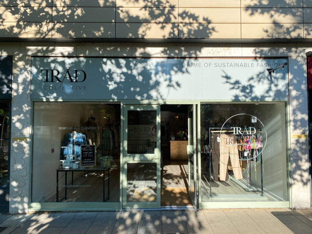 Exterior of Tråd Collective store in Headingley with doors open