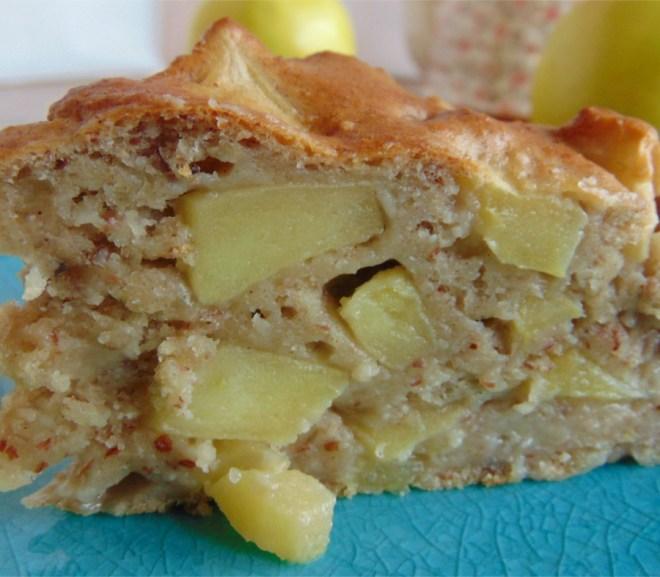 Zuckerfreier Apfelkuchen, saftig und lecker