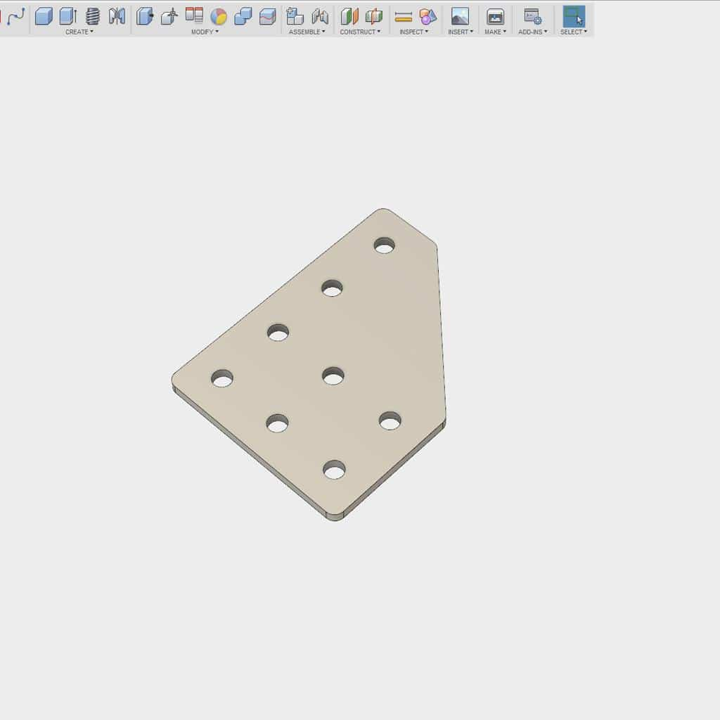 part modeled in cad
