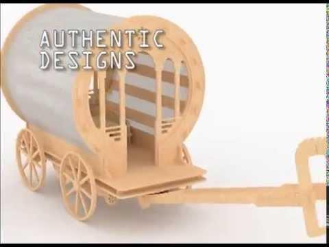 Gypsy Wagons Laser cut DXF plans