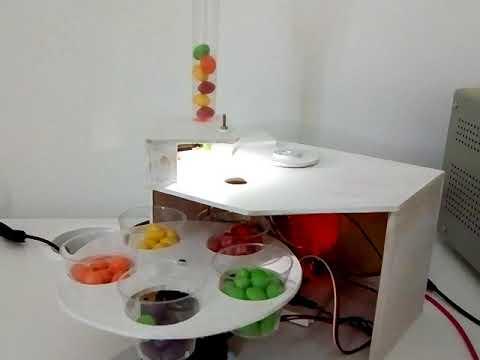 Arduino-powered mechatronic colour sorter