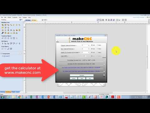 makeCNC vectric scale calculator tutorial