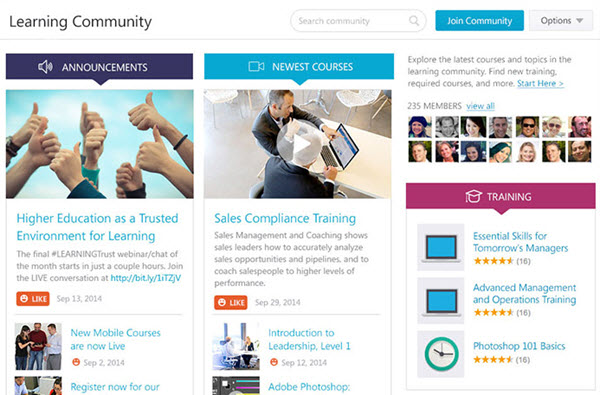 CSOD social-learning-screen