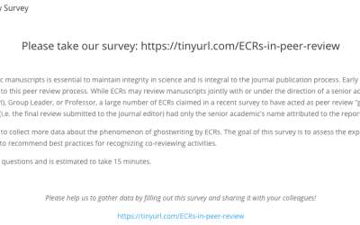 Our #ECRPeerReview survey closes soon! Please share your peer review experiences with us