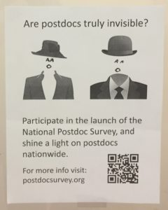 Graffiti spotted at Harvard Medical School - have you heard about the postdoc survey?