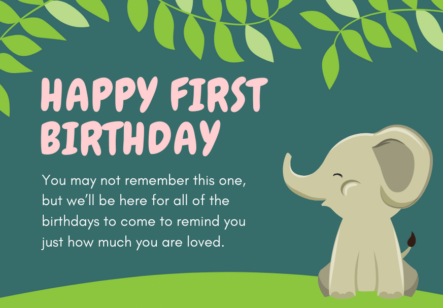 150 Perfect First Birthday Card Messages Futureofworking Com