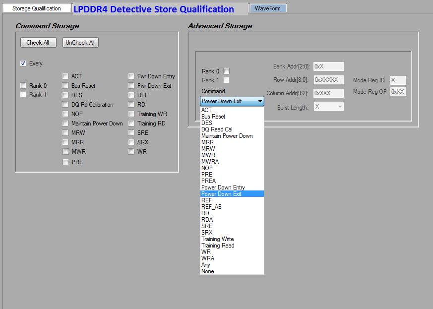 LPDDR4 Detective Store Qualification