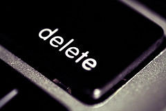delete. Image by M i x y on Flickr CC BY 2.0