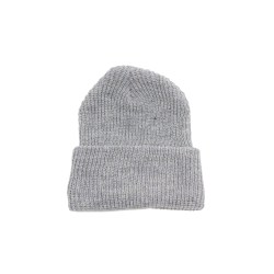Rib Knit Beanie – Heather Gray