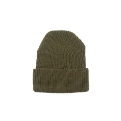 Rib Knit Beanie – Olive