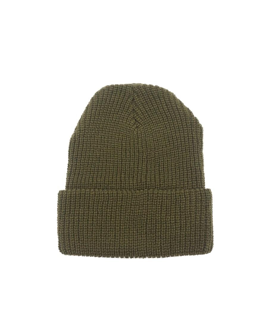 Olive Rib Knit Beanie