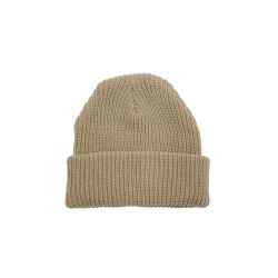 Rib Knit Beanie – Natural