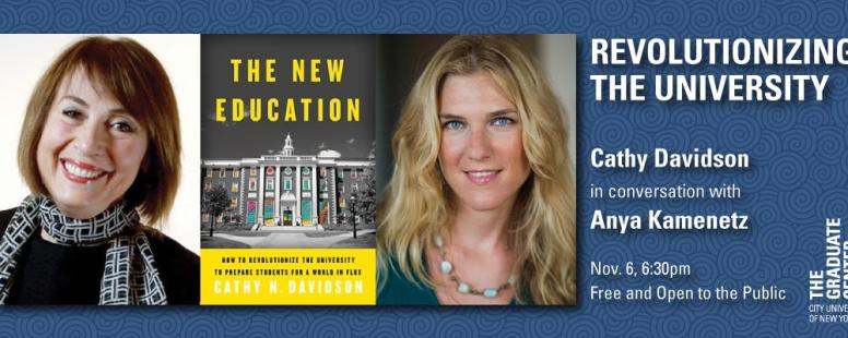 Revolutionizing the University: Cathy N. Davidson in Conversation with NPR's Anya Kamenetz