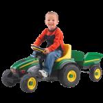 Peg Perego John Deere Farm Tractor and Trailer
