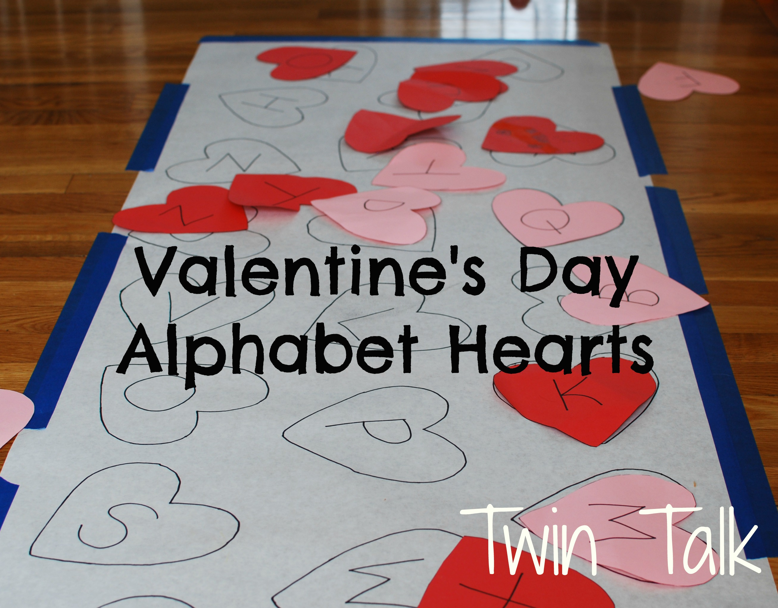 Valentine S Alphabet Matching Game Twin Talk