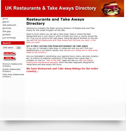 UK Restaurants and Takeaways