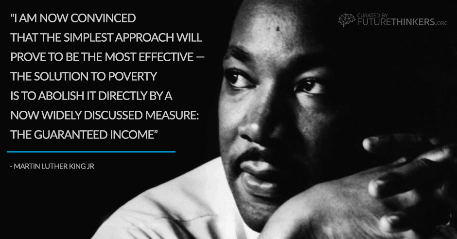 Martin Luther King basic income quote