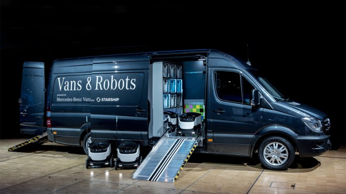 robôs autônomos para distribuição de produtos