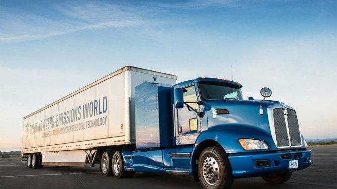 caminhão Toyota movido a hidrogênio